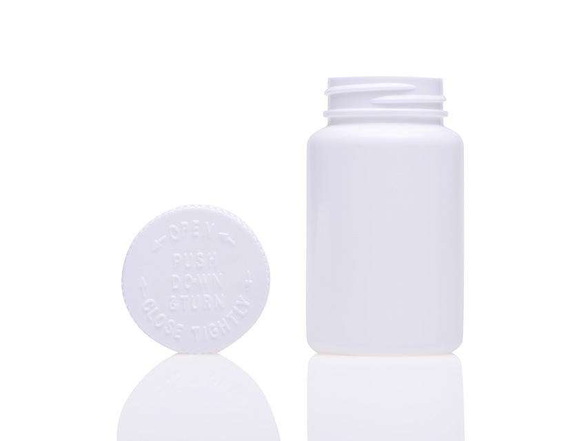 100ml Tablet Bottle with Child Resistant Cap Z005