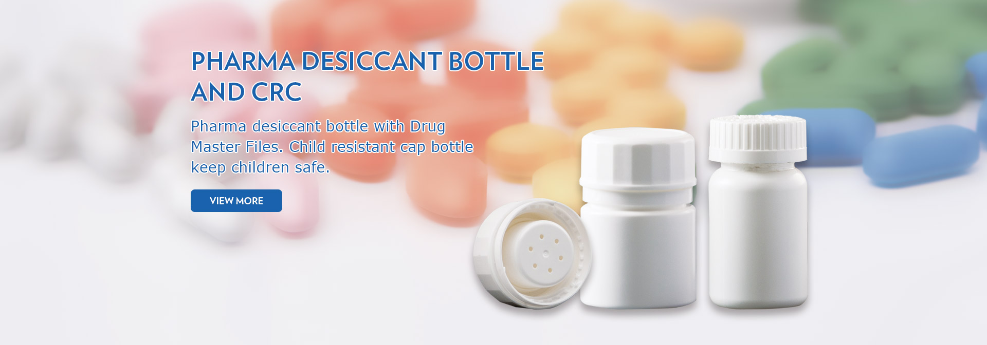 Pharma Desiccant Bottle and CRC