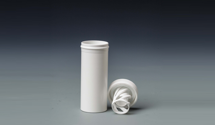 Effervescent Tubes with Desiccant and Stopper