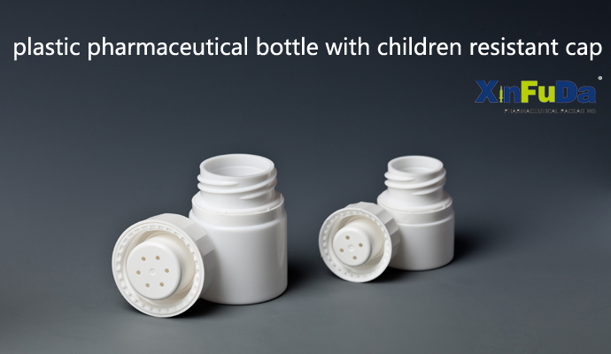 HDPE bottle with child proof cap