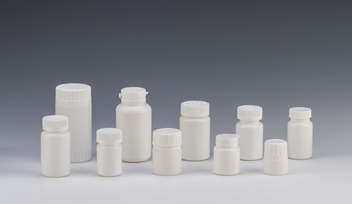 HDPE Pill Bottle with Child Proof Cap for Pharmaceuticals
