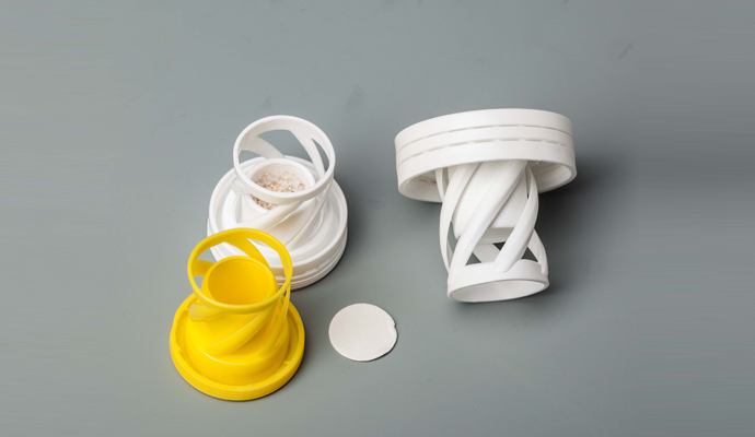 Plastic tube with lid for effervescent tablets