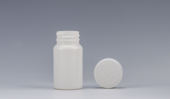 Push and turn cap 60ml bottle for medicine
