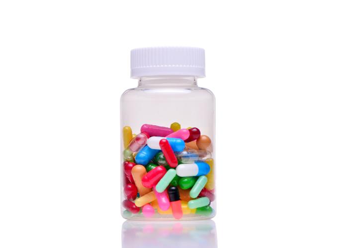 nutritional supplement bottle