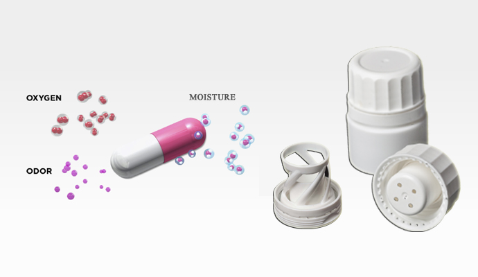 Plastic tube for calcium tablets