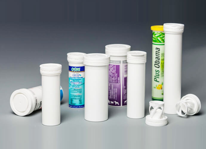 Plastic tube for supplements