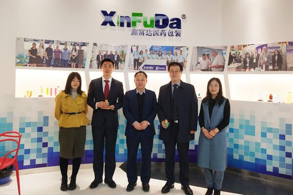 Korean customers visit our factory
