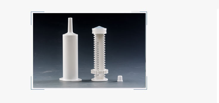 Disposable horse syringe for supplement