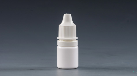 What kind of material is the eye drop bottle