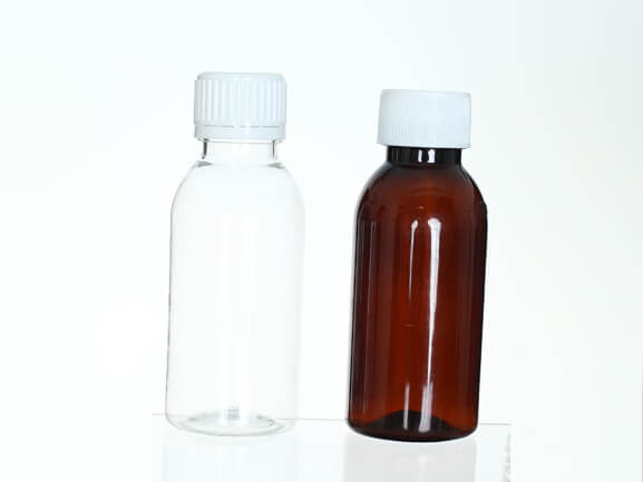 100ml PET amber liquid bottle for human oral medicine