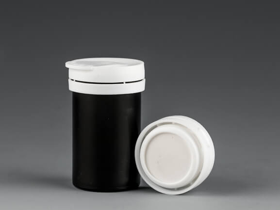 48mm glucose test strip container with desiccant cap