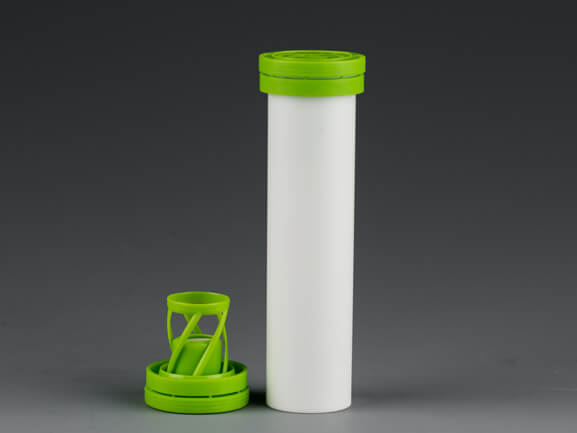 Plastic tube for effervescent tablets