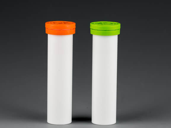Plastic tube for effervescent tablets