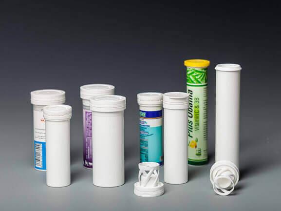 empty vitamin tablets tube