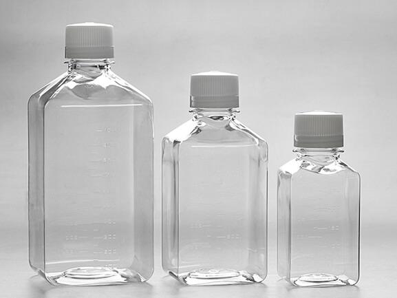 PET Square Storage Media Bottles