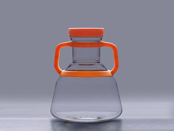 5L Polycarbonate Erlenmeyer Shaker Flask