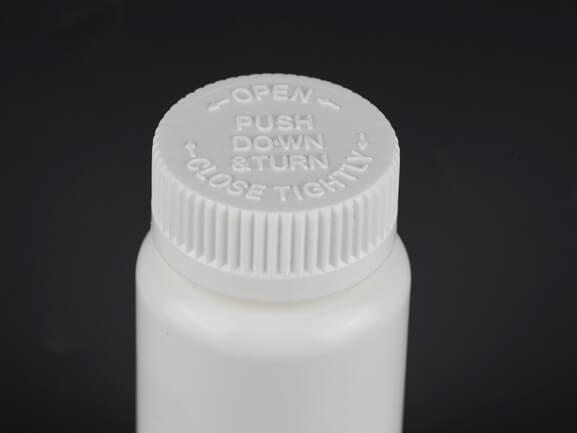 100ml Tablet Bottle with Child Resistant Cap Z005
